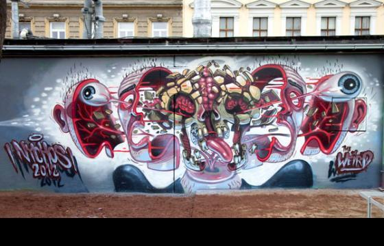 Nychos: 2 new murals in Vienna