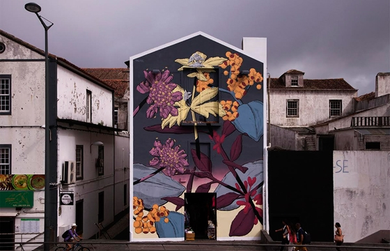 New Pastel Mural at the Walk & Talk Festival