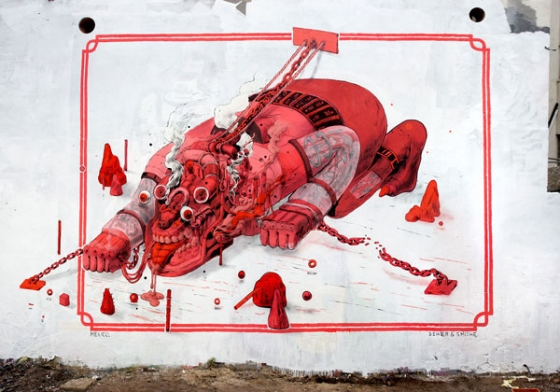 Seher x Smithe mural in Hamburg, Germany