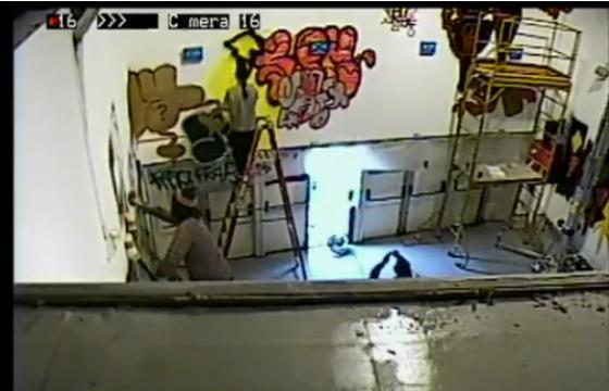 "MOCA's ""Art In the Street"" Security Camera Video"