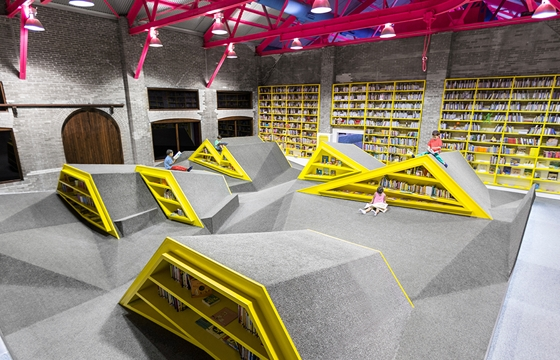 A Library and Playground in Monterrey, Mexico