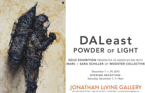 "DALeast ""Powder of Light ""@ Jonathan Levine, NYC"