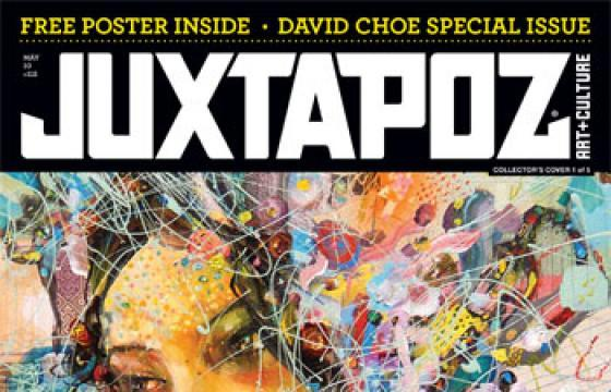 Very First Peek at David Choe Juxtapoz May Issue Cover