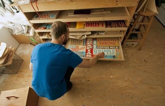THEFLOPBOX Visits Sign Painter Jeff Canham's Studio