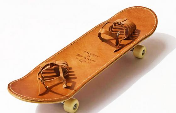 The Leather Skateboard by Greece Is For Lovers