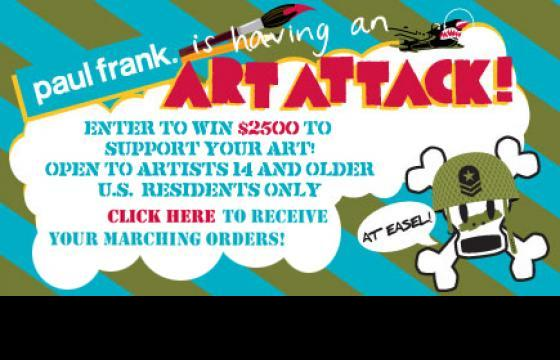 Paul Frank's Art Attack contest is live