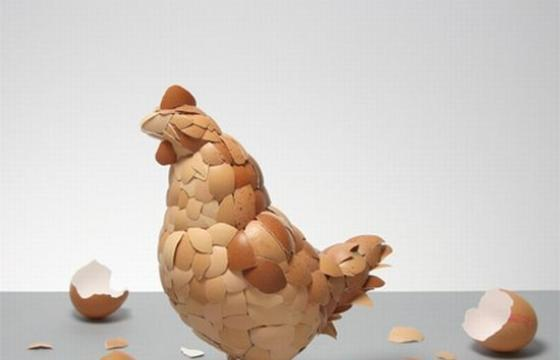 The Egg Shell Sculpture by Kyle Bean