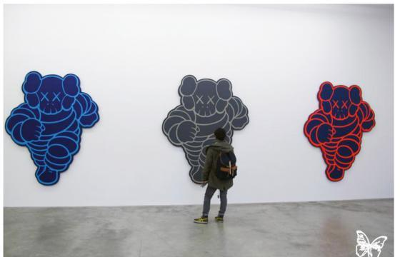 "Opening: KAWS ""Imaginary Friends"" @ Galerie Perrotin, Paris"