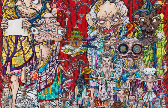 "TAKASHI MURAKAMI ""IN THE LAND OF THE DEAD, STEPPING ON THE TAIL OF A RAINBOW"" @ Gagosian Gallery, West 24th Street"