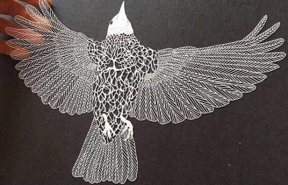 It's all in the cut out: Intricate paper works by Maude White