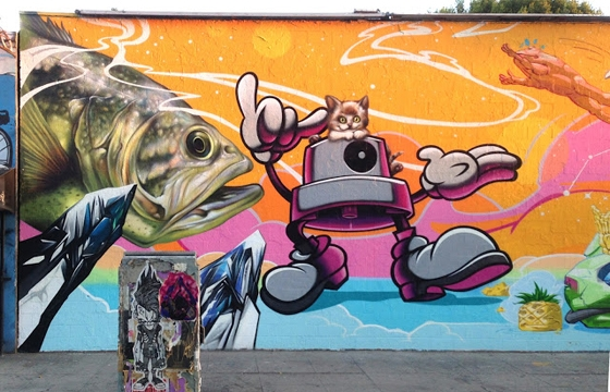 Axis and Swank paint Barracuda wall in Los Angeles