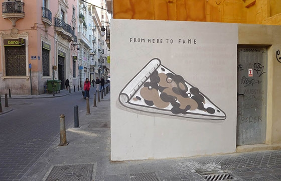 """Fast food is not a crime"" a series of walls by Escif"