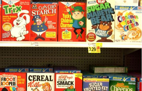 Ron English Goes to a Local Ralph's Cereal Aisle...