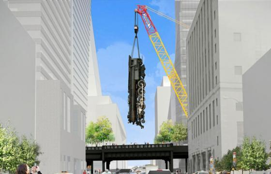 Jeff Koons Proposes Dangling Train Over High Line