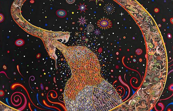 "Fred Tomaselli ""Current Events"" @ James Cohan Gallery"