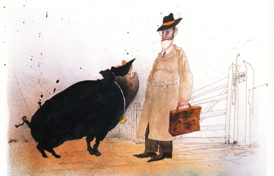 "Ralph Steadman's ""Animal Farm"" Illustrations"