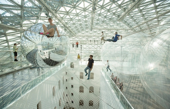 """In Orbit"" TOMÁS Saraceno's Largest Installation to Date"