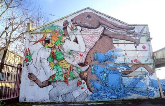 Blu x Ericailcane in Bologna, Italy