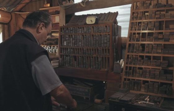Watch: Portrait of a Letterpress Printer