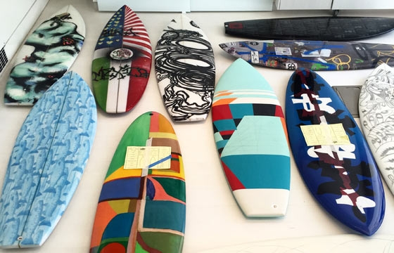 """Surf Craft"" Benefit for Waves for Water: Live Auction Through July 29 on Paddle8"