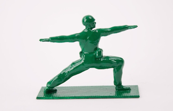 Classic Toy Soldiers Do Yoga