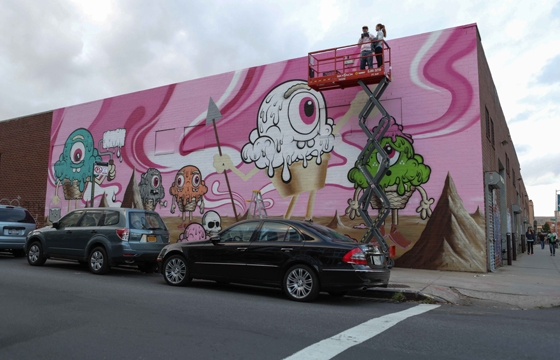 Converse Wall to Wall: Buff Monster in Brooklyn, NY