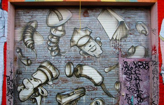In Graffiti: Vintage Twist in SF