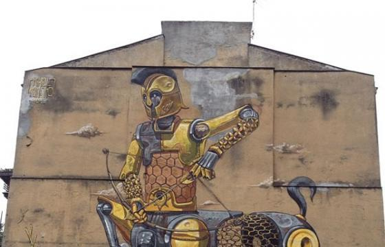 Pixel Pancho Goes Big in Warsaw, Poland