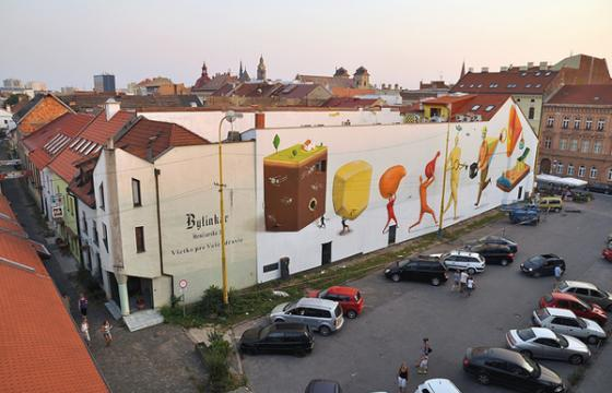 In Street Art: Interesni Kazki in Slovakia