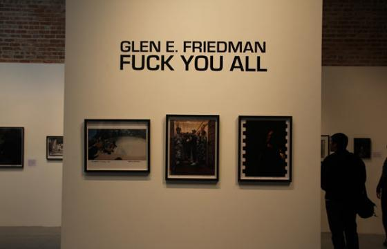 "Pre-Opening photos: Glen E. Friedman's ""Fuck You All"" at 941 Geary"