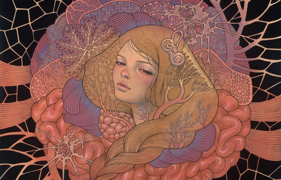 Audrey Kawasaki + Esao Andrews @ Thinkspace Booth, SCOPE Basel