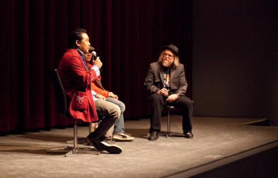 Photos from David Choe at MoMA for Juxtapoz Film Series
