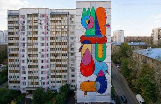 New Mural by Sixe in Moscow, Russia