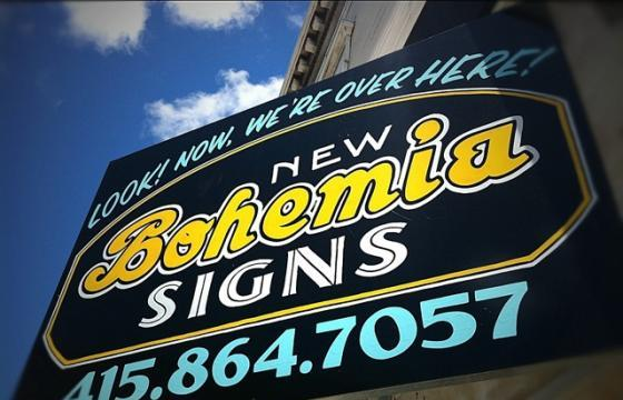 New Bohemia Signs at Guerrero Gallery San Francisco