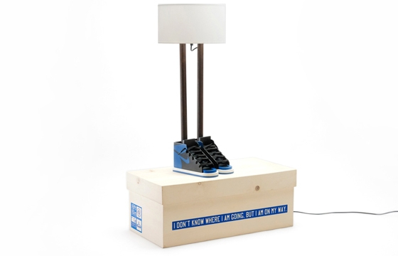 "Grotesk x Case Studyo ""6ft 6in"" Lamp ""Black & Royal Blue Edition"""