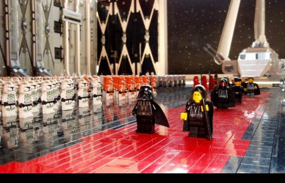 The Death Star Hangar Made of LEGOS