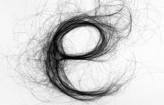 Typography with Hair