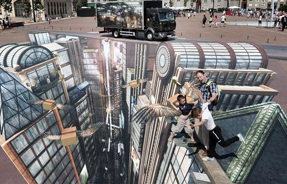 3D Street Art by Francois Abelane... Large-Scale