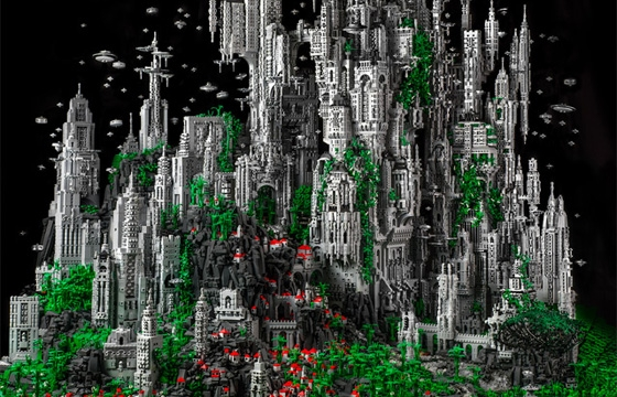 Mike Doyle Creates a 200,000 Piece Sci-Fi LEGO Sculpture