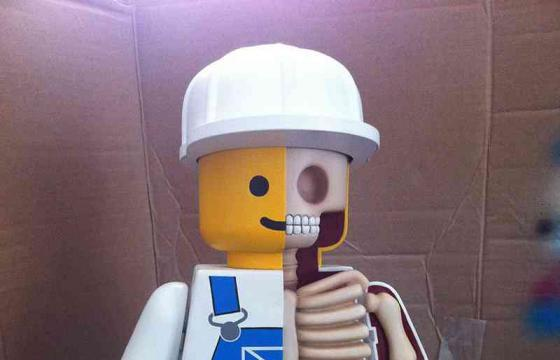 Dissecting Giant Lego Men by Jason Freeny