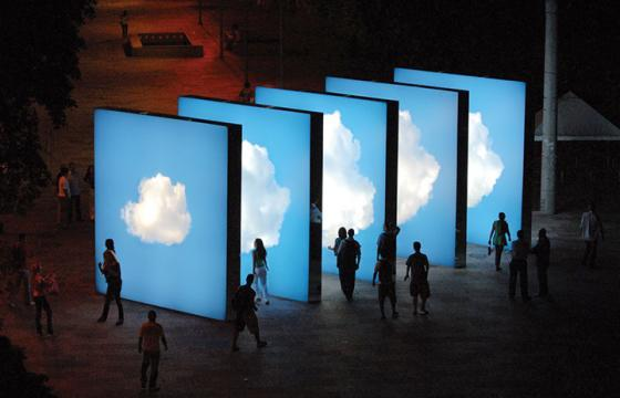 Clouds on the Street: Public Installation by Eduardo Coimbra