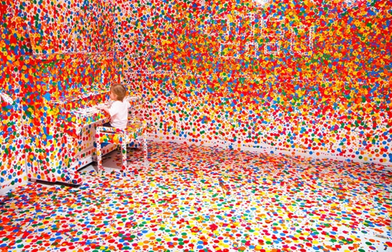 "Yayoi Kusama's ""The Obliteration Room"""
