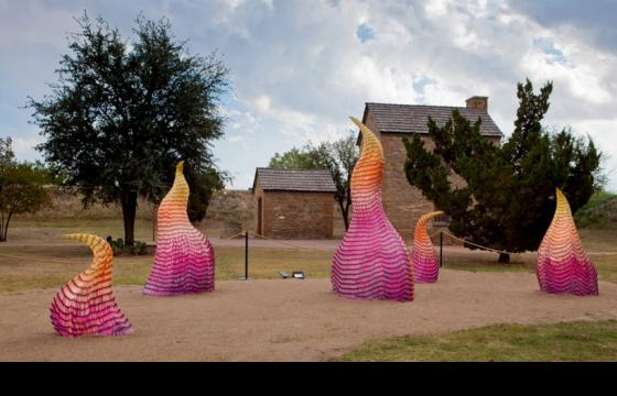 The Crayon Wildfire Installation by Herb Williams