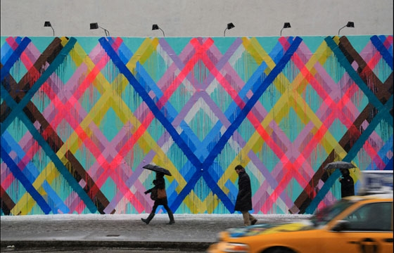 Maya Hayuk next up to bat on The Bowery Wall