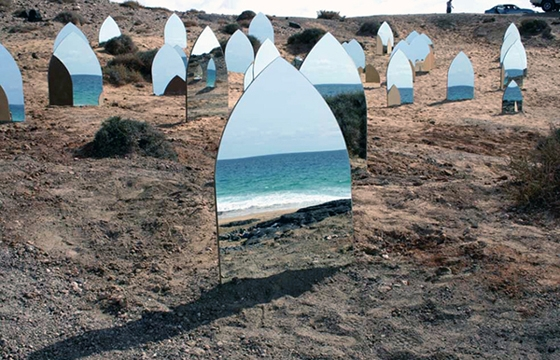 Kader Attia's Mirrored Tombstones