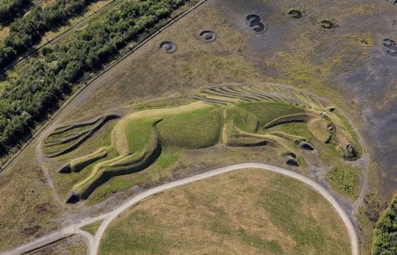 Giant 200-Meter Long Horse Earth Sculpture