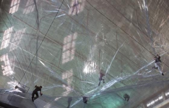On Space Time Foam by Tomás Saraceno in Milan