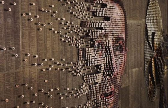 Portraits Made From Screws by Andrew Meyers