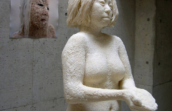 100 Pound Rice Sculpture by Saeri Kiritani