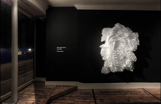 "Vhils ""Dissonance"" @ Lazarides, London"